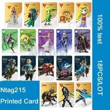 18 шт. NFC карты NTAG215 печать карты для Legend of Zelda: Дыхание Дикого