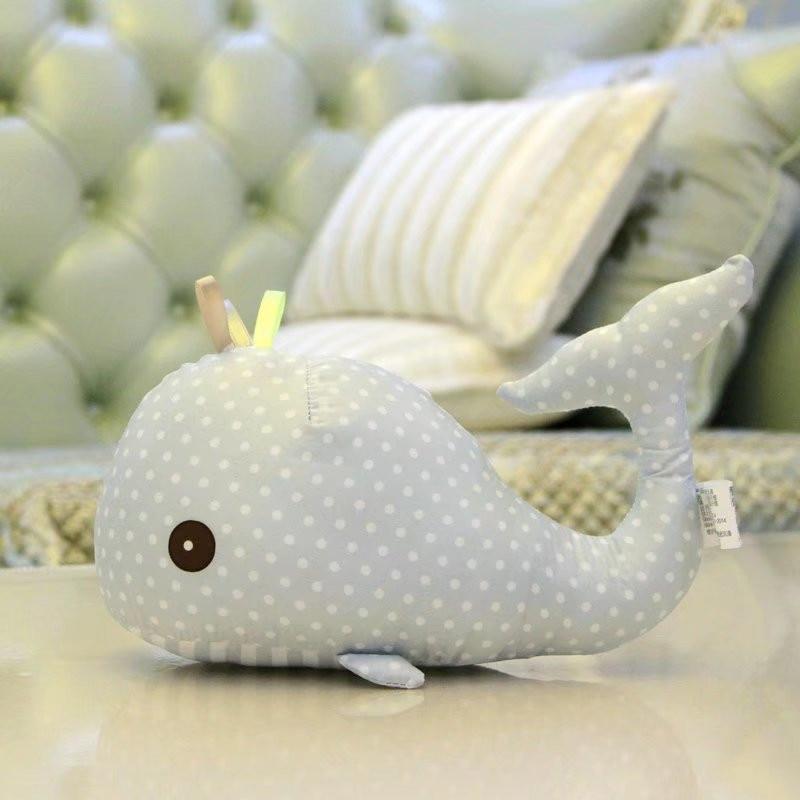 Cute Soft Dolphin Plush Toys Cartoon Whale Stuffed Animal