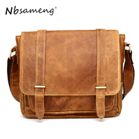 Nbsa Для мужчин G Винтаж Для мужчин Курьерские сумки Пояса из натуральной кожи Для мужчин сумка Кроссбоди один мужчина сумка на плечо