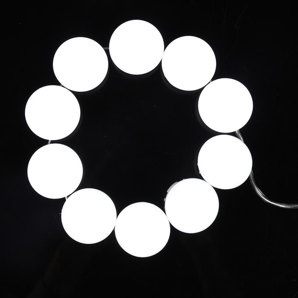 10 Bulbs Makeup Mirror With Led Light Vanity Mirror USB Charging Port Cosmetic Bulb Adjustable Make up Mirrors Brightness lights 3