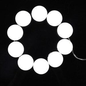 Image 5 - 10 נורות איפור מראה עם Led אור יהירות מראה USB טעינת נמל קוסמטי הנורה מתכוונן איפור מראות בהירות אורות
