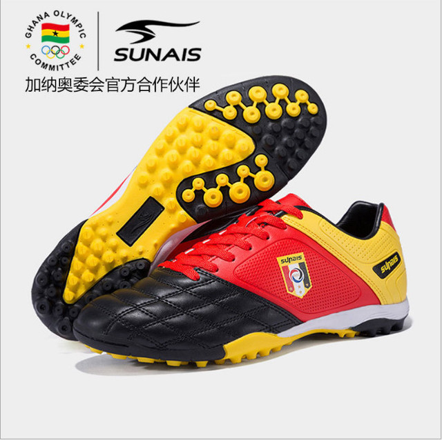 d37c35430 SUNAIS Four seasons new students outdoor sports football shoes youth broken nails  non-slip breathable training shoes