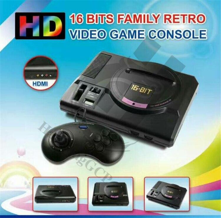 HaoLongGCP Best 112 classic games HDMI TV Out For SEGA MEGA Drive Simulator MD Console Computer Video Game Console Sonic Contra