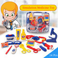New 14 Pcs/Set Doctor Series Baby Simulation Medicine Toys Pretend Play Set Children Play House Doctor Medical Kit Classic Toys