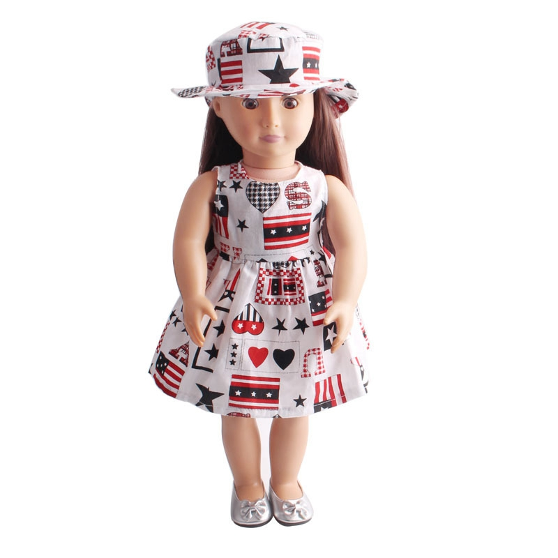 18 inch American girl Doll Clothes Cute Baby Doll Accessories Dress Comfortable Making Your Kids s Doll Lovely