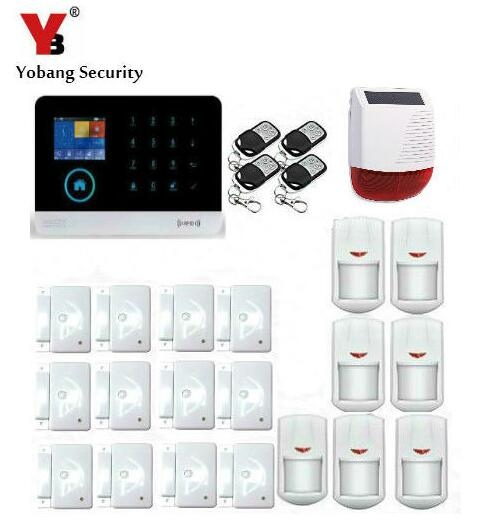 Yobang Security RFID GSM GPRS Alarm Systems Outdoor Solar Siren WIFI SMS Wireless Alarme Kits Metal Remote Control Motion Alarm daytech gsm sms alarm kits home security system professional siren wireless gsm remote control intelligent two way intercom