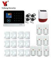 Yobang Security RFID GSM GPRS Alarm Systems Outdoor Solar Siren WIFI SMS Wireless Alarme Kits Metal