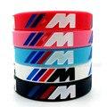 2 шт. /// M гравировка Голограммы браслет для мужчин женщин M Мощный силиконовый браслет спортивный браслет аксессуары