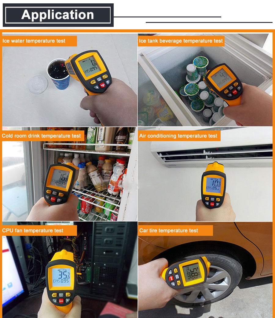 HTB12fIrbhv1gK0jSZFFq6z0sXXaL RZ IR Infrared Thermometer Thermal Imager Handheld Digital Electronic Outdoor Non-Contact Laser Pyrometer Point Gun Thermometer
