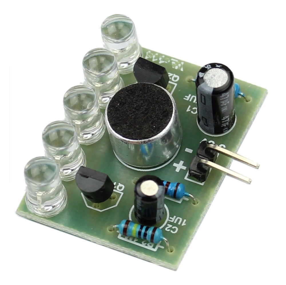 Online Shop Diy Kit 5mm Led Simple Flash Light Circuit Electronic Production Project Suite Kits Module Board 1pc New Sound Control Melody Lamp Integrated Circuits