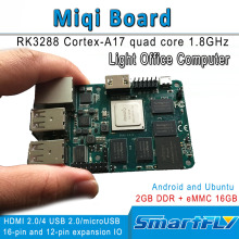 miqi single board,RK3288 ARM Quad-core A17 Development/demo board 1.8GHzx4, open source Ubuntu, Android HDMI 2GB DDR 16GeMMC