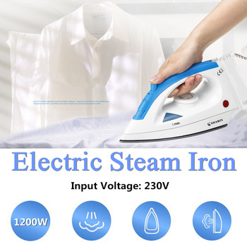 SR-808 230V 1200W EU Electric Steam Iron Large Stainless Steel Non-stick Soleplate Glides Anti-drip System Portable Anti-calcium clothes iron