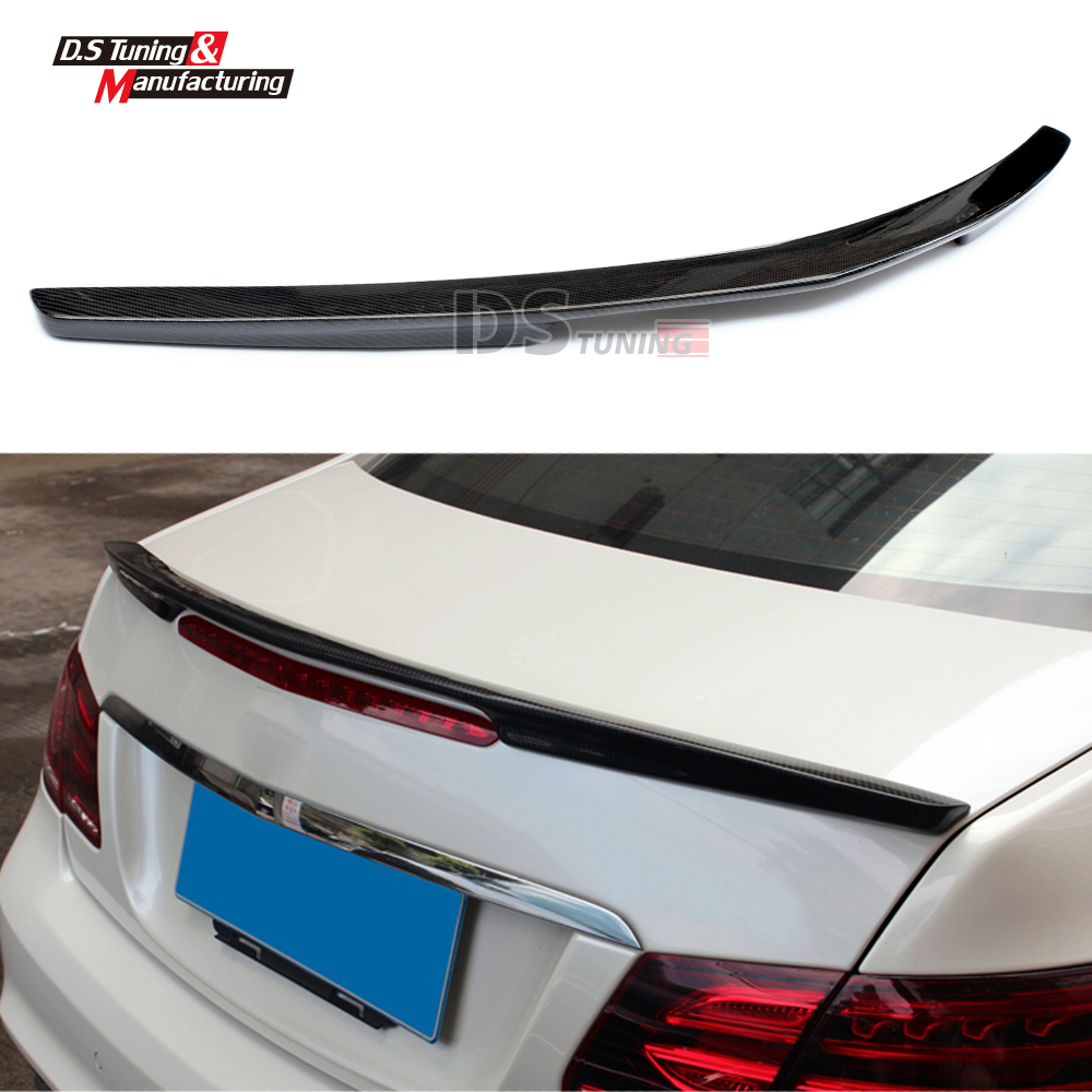 Mercedes W207 Replacement AMG Style Spoiler For Benz E Class W207 2010 + Tail Rear Trunk Spoiler Wing Carbon Fiber Car Styling hot car abs chrome carbon fiber rear door wing tail spoiler frame plate trim for honda civic 10th sedan 2016 2017 2018 1pcs