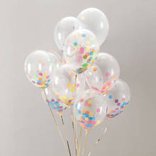 CHLEZI New 10 Pcs / lot 12 inch transparent confetti balloon Birthday Wedding Party Decorative Balloon Popular popular wholesale