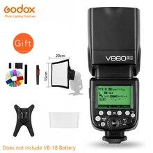 Godox Ving V860II V860II C/N/S/F/O TTL HSS 1/8000 Speedlite Flaş Canon Nikon için sony Fuji Olympus DSLR Olmadan VB 18 Pil