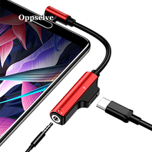лучшая цена Oppselve USB Type C 3.5 Earphone Adapter Charger USB C to 3.5mm Jack AUX Adapter For Xiaomi Mi6 MIX2 Huawei P20 P30 Audio Cable