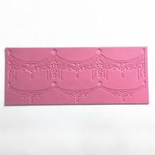 цена на Lace silicone mold food grade The The New cake mold cake fondant cake decorating tools Lace border Chocolate Clay DIY