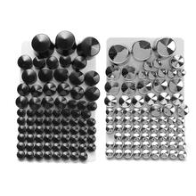 Motorcycle Chrome ABS Bolt Toppers Bolt Cap For Harley-Davidson Softail Twin Cam 1984-2006 2005  Silver/Black 87 pcs