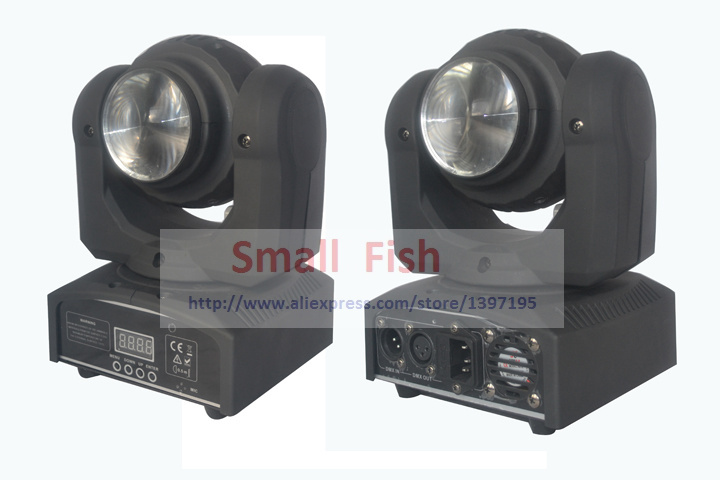 New 4xLot Two Face heads 40W RGBW 4in1 Mini Led Moving Head Beam Wash Stage Light Y axis Endless Rotation DJ Disco Party Lights