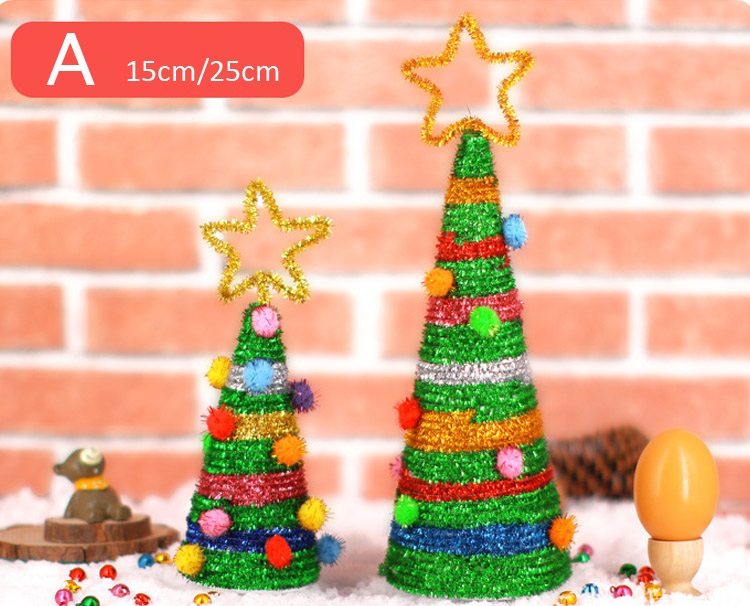 Christmas Tree Toys Handmade.Diy Christmas Tree Handmade Craft Toys Kindergarten Kids Creative Gift Children S Educational Toys Christmas Gifts