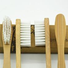 2016 envío gratis emi-1 bambú cepillo de dientes cepillo de dientes blanco seda 10 unids/caja