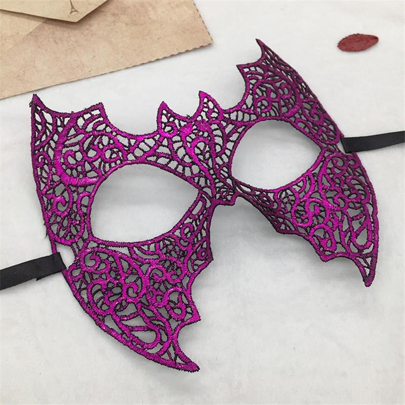 Фиксированная форма, Дамская Сексуальная Маскарадная маска из кружева для карнавала, Хэллоуина, выпускного вечера, Вечерние Маски, фиолетовые, горячее тиснение#35 - Цвет: PM042TZ