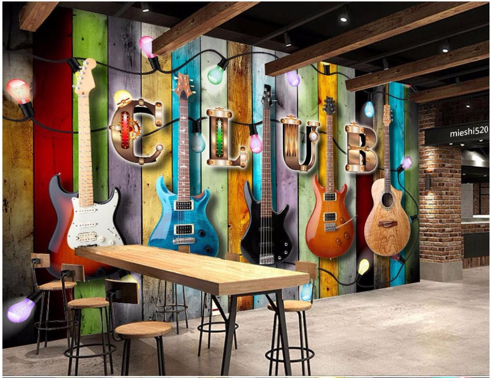 Custom photo 3d wallpaper A throwback colored wood print music graffiti painting 3d wall room murals wallpaper for walls 3 d электрогриль every music 5118d maxhler 3d
