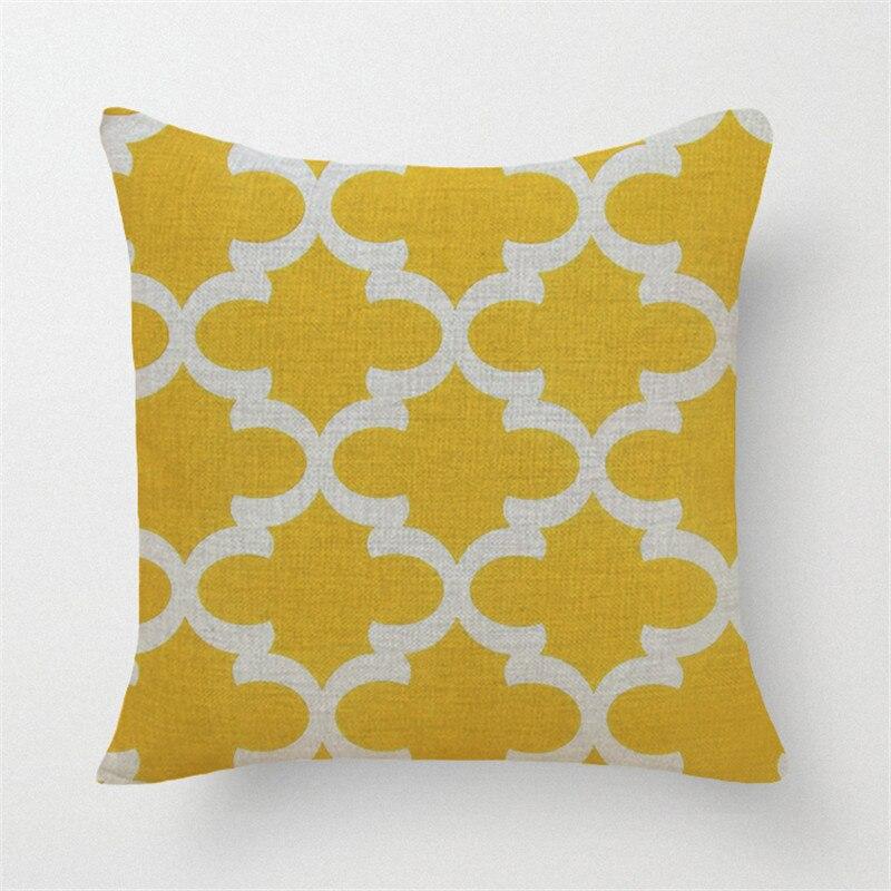en gros linge taie d oreiller jaune gris housse de coussin nordique geometrique style decoratif a la maison taie d oreiller canape taie d oreiller dans