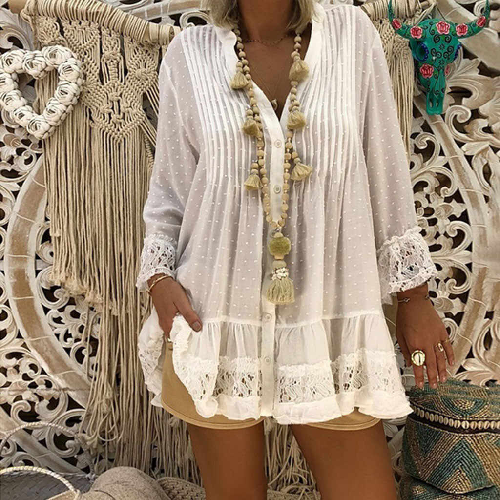 Wanita Gaun Kaftan BoHo Beach Cover Plus Ukuran Wanita Vintage Hippie Longgar Vestidos De Verano Panas