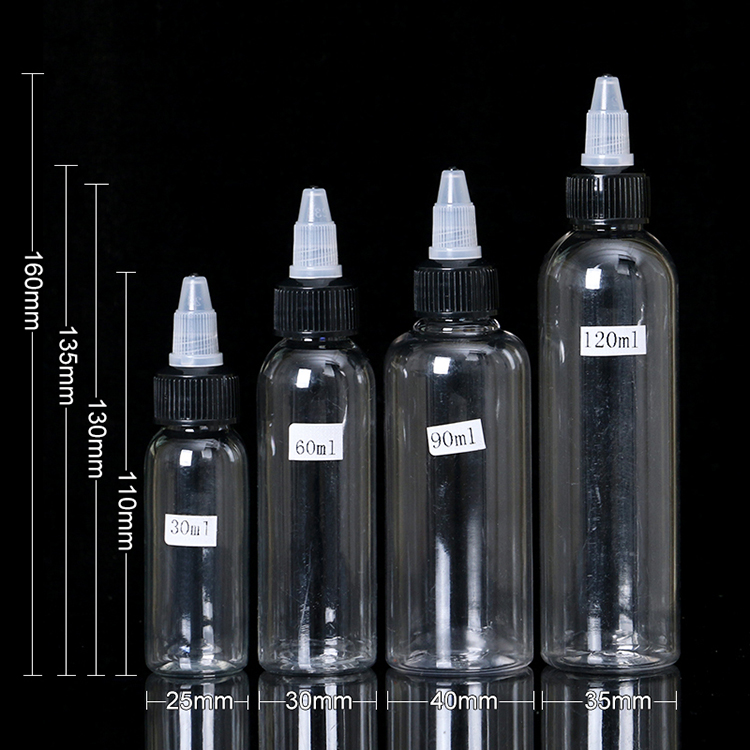 Honest 20pcs New 30ml/60ml Twist Cap Empty Plastic Transparent Tattoo Ink Pigment Clear Bottle Supplies Tattoo Pigment Ink Bottle Beauty & Health Tattoo & Body Art