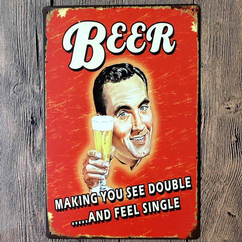New Vintage Beer Wine Metal Picture Poster Tin Sign Wall Posters