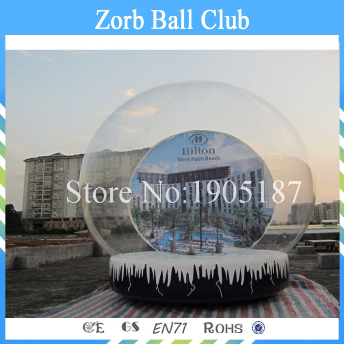 Free Shipping Diameter 5m Cheap Inflatable Snow Globe , Inflatable Snow Ball , Inflatable Snow Balloon 10pcs lot cold resistant pvc inflatable unicorn winter snow tube inflatable snow games toys snow tube toy