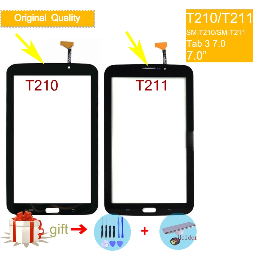 For <font><b>Samsung</b></font> Galaxy TAB 3 LITE 7.0 SM-T210 T210 SM-<font><b>T211</b></font> <font><b>T211</b></font> Touch Screen Digitizer Front Glass Panel Sensor Touchscreen NO <font><b>LCD</b></font> image