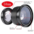 Neewer 58MM 0.35X Super Fisheye Wide Angle Lens with Lens Cover for Canon Rebel T5i, T4i, T3, T2i, T1i, XTi, XT, XSi, XS, SL1