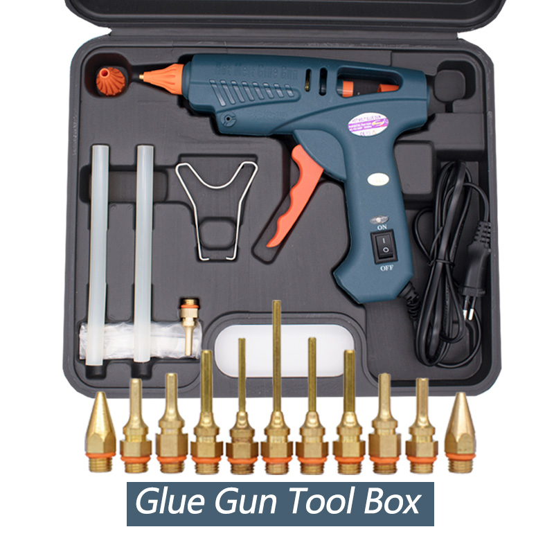 Glue Gun Tool Box 100W Hot Melt Glue Gun EU US ON/OFF Switch Copper Nozzle For 11mm Glue Stick Home Craft DIY Adhesive Hot Gun