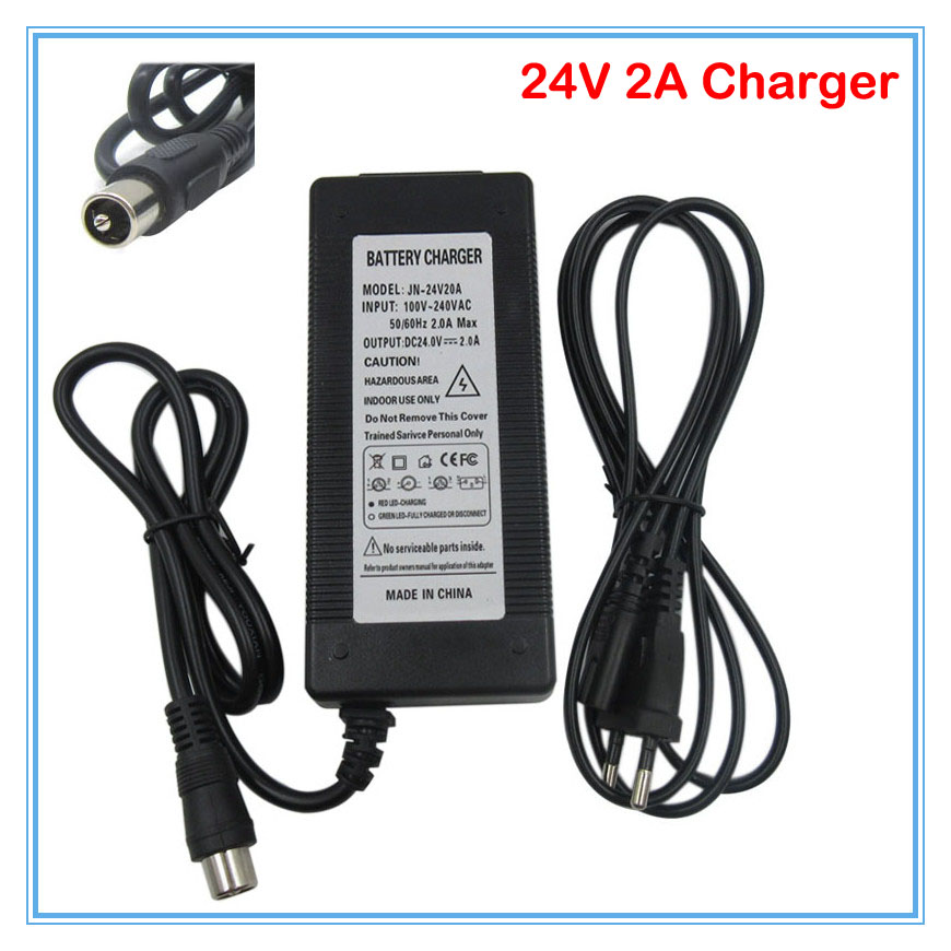 24V 2A lead-acid battery <font><b>charger</b></font> RCA Port 24V lead acid <font><b>electric</b></font> scooter <font><b>charger</b></font> power wheelchair <font><b>charger</b></font> <font><b>golf</b></font> <font><b>cart</b></font> <font><b>charger</b></font> image