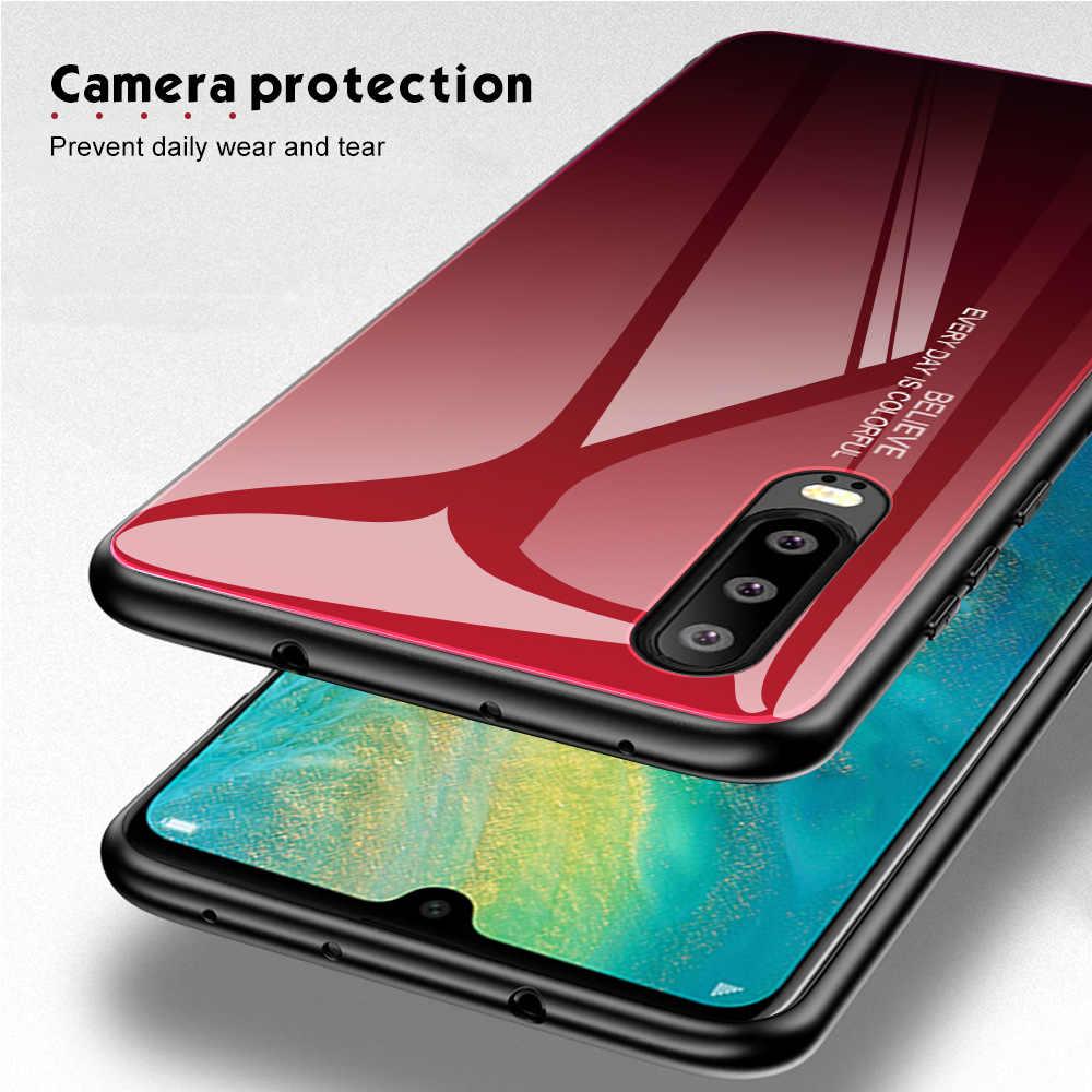 Novedoso pack de vidrio para Huawei P20 P30 Lite Pro amigo 20 10 Lite Pro cubierta de la caja del teléfono para Huawei P Smart 2019 Honor 8X9 10 Lite