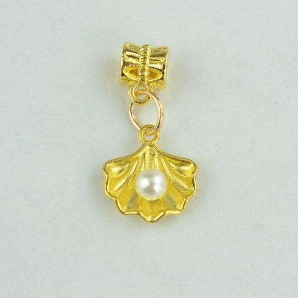 50pcs wholesale new design golden shell charms pendants jewelry 50pcs wholesale new design golden shell charms pendants jewelry diy findings fits europe bracelet making 3399 aloadofball Image collections