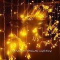 Отличный! Светодиодный светильник со звездой  украшение для свадебного торжества  3*6 м  желтая лампа для занавесок  H272