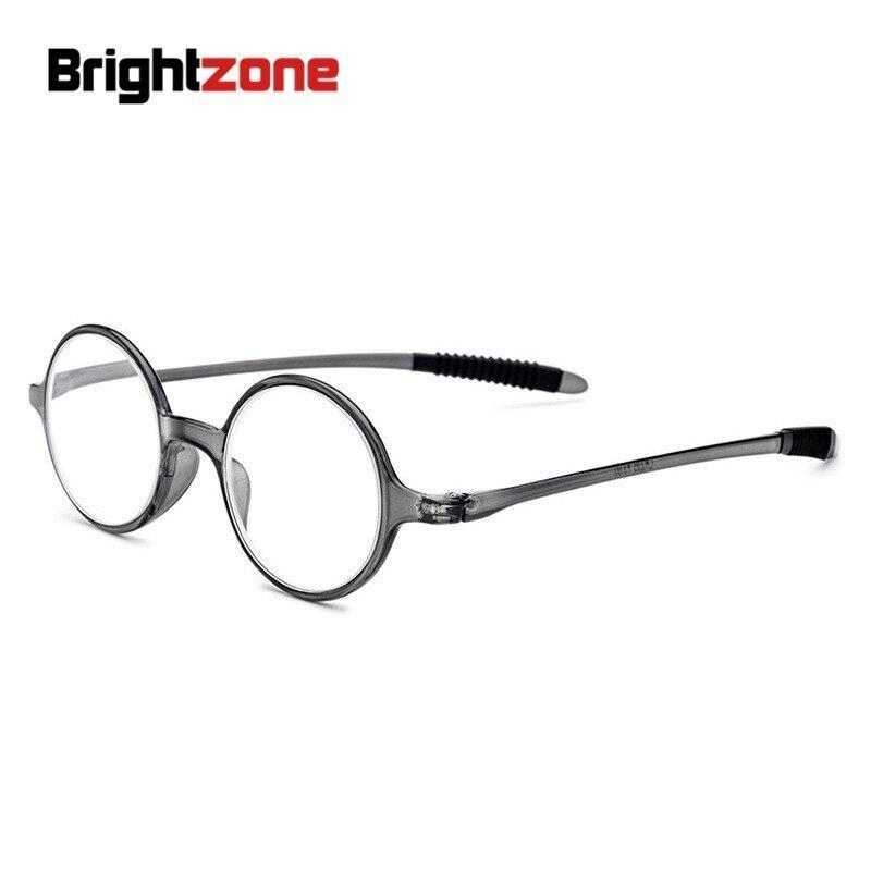 Brightzone Comfortable TR90 Presbyopic Reading Glasses Male Elderly Round Hyperopia Women Magnifying Lightweight Eyewear Frames