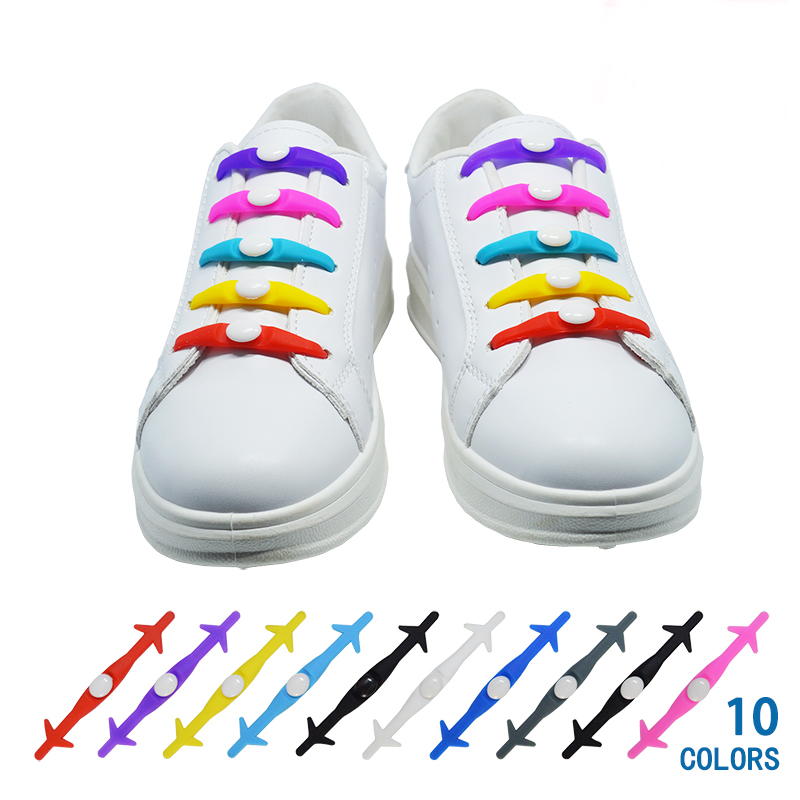 12Pc/Set VING Elastic Silicone Shoelaces For Shoes Special Shoelace No Tie Shoe Laces For Men Women Lacing Shoes Rubber Shoelace semi circle multicolour shoelace two tones cavans shoe laces elastic men s shoes lacet 110cm length 10 pairs on sale