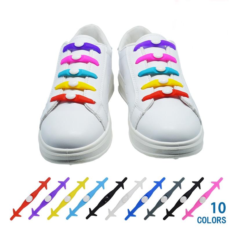 12Pc/Set VING Elastic Silicone Shoelaces For Shoes Special Shoelace No Tie Shoe Laces For Men Women Lacing Shoes Rubber Shoelace