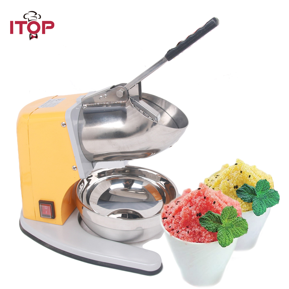 ITOP Commercial Ice Crusher Heavy Duty Commercial Use 220v Electric Snowcone Slush Ice Crusher Shaver Shaving Maker Machine