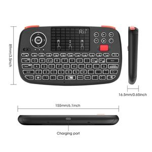 Image 4 - Rii i4 Spanish Mini Keyboard Bluetooth 2.4G Dual Modes Handheld Fingerboard Backlit Mouse Touchpad Remote Control for PC Android