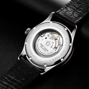 Image 5 - Часы мужские с автоподзаводом и ремешком из натуральной кожи