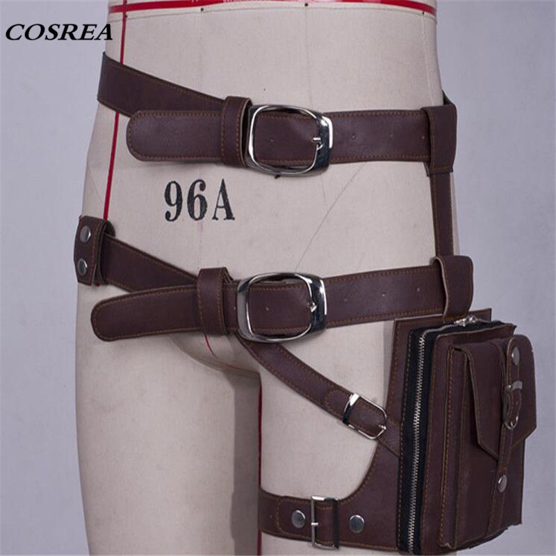 COSREA Game Playerunknown Battlegrounds PUBG Cosplay Straps Belts Waist Bag Pu Leather Halloween Party Game Props For Man Woman