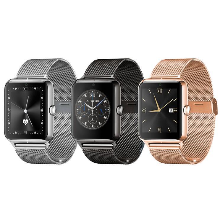 imágenes para Correa de metal bluetooth smart watch z50 2g internet wearable dispositivos nfc sim soporte de tarjeta tf smartwatch para apple teléfono android.