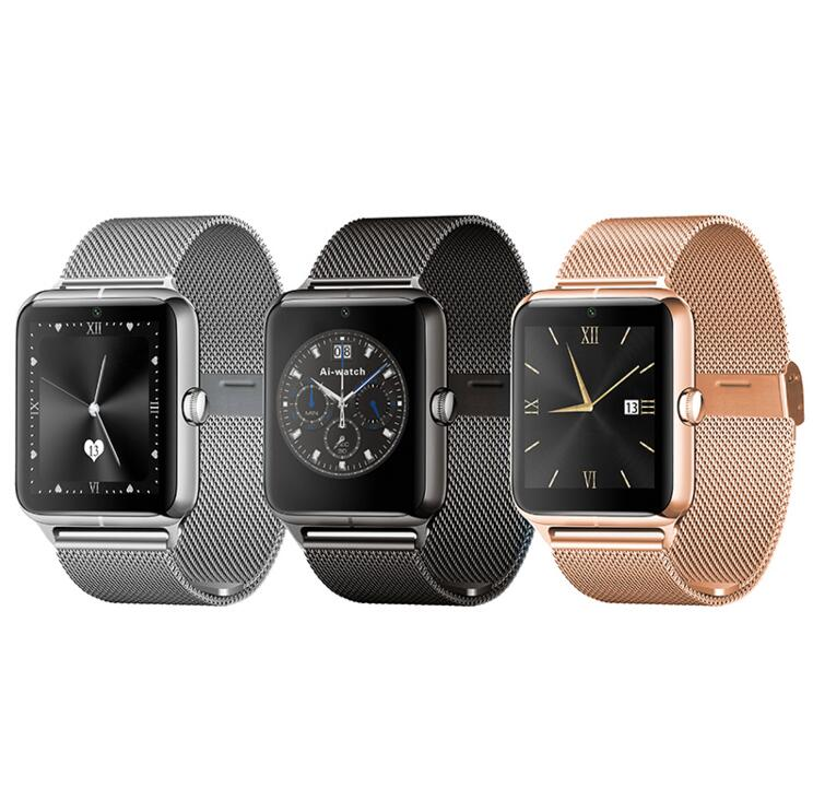Metal strap Bluetooth Smart Watch Z50 2G Internet NFC Support SIM TF Card Wearable Devices SmartWatch For Apple Android Phone.
