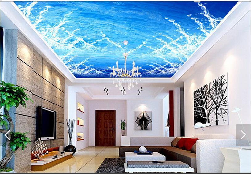 3d Fototapete Benutzerdefinierte Decke Tapete Mode Abstrakte Spray Zenit Wandbilder Wohnzimmer