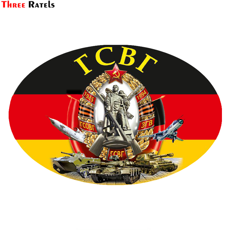 Three Ratels LCS488# 15x10cm Group Of Soviet Troops In Germany Car Stickers Funny Car Stickers Styling Removable Decal